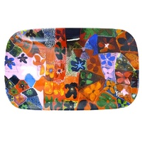 Yijan Aboriginal Art Bone China Platter - Waterlillies