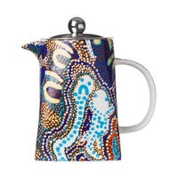 Papulankutja Aboriginal Art Fine Bone China Teapot - the Story of Blackstone