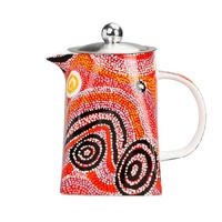 Warlukurlangu Aboriginal Art Fine Bone China Teapot - Fire Dreaming