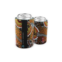 Bunabiri Aboriginal Art Can Cooler - Kangaroos Dreaming