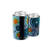 Bunabiri Aboriginal Art Can Cooler - Turtles Dreaming