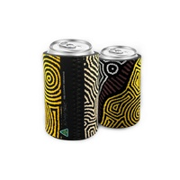 Bunabiri Aboriginal Art Neoprene Can Cooler - Fire Country