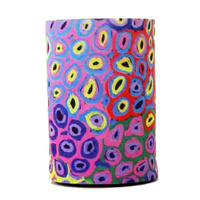Utopia Aboriginal Art Neoprene Can Cooler - Soakage (Pink)