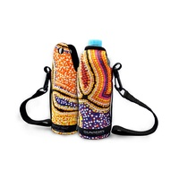 Bunabiri Aboriginal Art Neoprene Water Bottle Cooler - Snake Dreaming