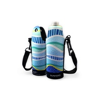 Bunabiri Aboriginal Art Neoprene Water Bottle Cooler - Rainbow Reef