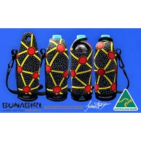Bunabiri Aboriginal Art Neoprene Water Bottle Cooler - Talaroo Springs