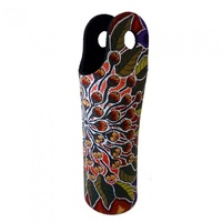 Utopia Aboriginal Art Neoprene Water Bottle Cooler - Bushfood
