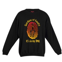 Dreamtime Kullilla-Art Guardians DNA 4XLarge Black Cotton Fleece Screen-Printed Sloppy Joe