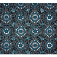 Alura Seed Dreaming (Blue) - Aboriginal design Fabric