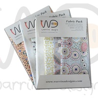 Aboriginal Fabric 4pce FAT QUARTER Pack [Ecru] - Aboriginal Design Fabric