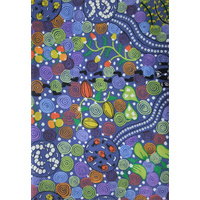 Corroboree (Blue) [SCRAP 2.3M] - Aboriginal design Fabric