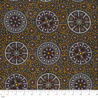 Wildflowers After Rain (Yellow) - Aboriginal design Fabric