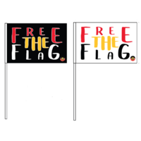 FREE-the-FLAG Souvenir Polyester Hand-Held Flag (Set 2)