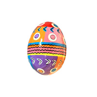 Better World Aboriginal Art Handpainted Decorative Lacquered Egg & Stand - Mina Mina Dreaming