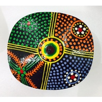 Keringke Aboriginal Art Lacquered Pill Box (Round Shaped) 04