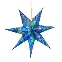 Better World Aboriginal Art Xmas Handmade Paper Star - Pikilyi