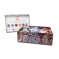 Warlukurlangu Aboriginal Art 6 pack Gift Box Xmas Baubles