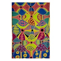 Aboriginal Art Handmade Chainstitched Rug (72cm x 120cm) (2.5ft x 4ft) - Family & Places