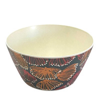 Utopia Aboriginal Art Bamboo Small Bowl - Gum Blossums