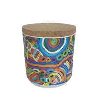 Utopia Aboriginal Art Bamboo Fibre Cannister (Small) - My Mother's Country