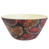 Utopia Aboriginal Art Bamboo Salad Bowl - Gum Blossums