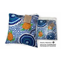 Bunabiri Aboriginal Art Decor Cushion  - Colours of the Reef