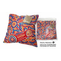 Bunabiri Aboriginal Art Decor Cushion (40cm x 40cm) - Landmarks