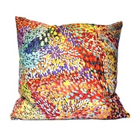 Firesparks - Utopia Aboriginal Art Poly-Linen Cushion Cover (45cm x 45cm)