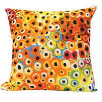 Soakage (Yellow) - Utopia Poly-Linen Cushion Cover (45cm x 45cm)