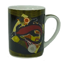 Jijaka Aboriginal Art Boxed China Mug - Totem Country