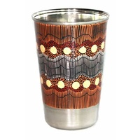 Better World Aboriginal Art Stainless Steel Tumbler - Sandhills