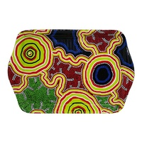 Hogarth Aboriginal Art Melamine Small Tray - Pathways