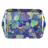 Jijaka Aboriginal Art Melamine Scatter Tray - Firestones Purple