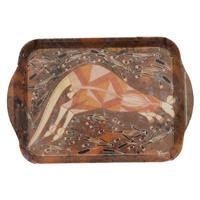 Yijan Aboriginal Art Melamine Scatter Tray - Wallaroo Hunt