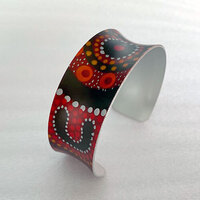 Allegria Handmade Aboriginal Art Bangle - Gathering Bushfood