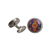 Allegria Stainless Steel Giftboxed Cufflinks - Sisters Picking Wildflowers