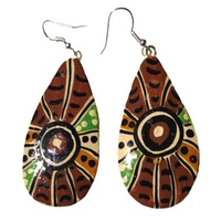 Iwantja Aboriginal Arts Lacquered Earrings - Maringka Burton