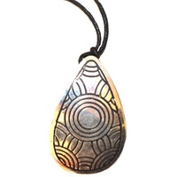 Iwantja Aboriginal Art Metal Pendant - Tjukula (Drop)