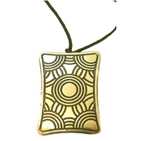Iwantja Aboriginal Art Metal Pendant - Tjukula (Rectangle)