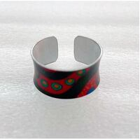 Allegria Handmade Aboriginal Art Ring - Camping Around Waterholes