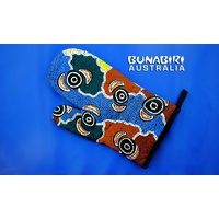 Bunabiri Aboriginal Art Oven Glove - Riverside Dreaming