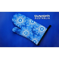 Bunabiri Aboriginal Art Oven Glove - Waterhole Dreaming