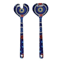 Hogarth Aboriginal Art Melamine Salad Servers - The Journey