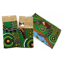 Bunabiri Aboriginal Art Cotton Teatowel - Crocodile Dreaming