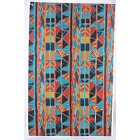 Jijaka Aboriginal Art Cotton Teatowel - Bark
