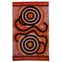 Kamilaroi Rarities Aboriginal Art design Teatowel - Creation of Gaayli (Brown)