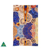 Papulankutja Aboriginal Art Australia Made Cotton Teatowel - Multju (Mulga Country)