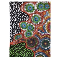 Better World Aboriginal Art Digital Print Cotton Teatowel - the Two Sisters