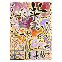 Better World Aboriginal Art Digital Print Cotton Teatowel - Yam & Bush Tomato Dreaming