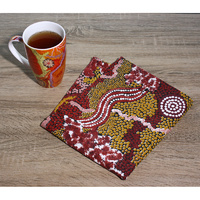 Better World Aboriginal Art Linen Teatowel - Family & Country
